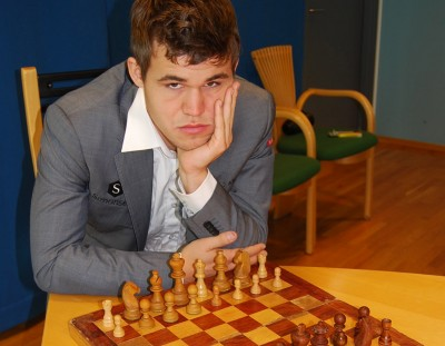 Magnus Carlsen is suddenly caught up in conflict over a world championship rematch in Sochi, that's loaded with political overtones. PHOTO: newsinenglish.no/Nina Berglund