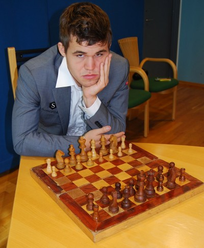 Chess sensation Magnus Carlsen insists he's optimistic heading into the World Championships in India and still thinks chess is fun, even though he's not known for always sporting a smile. He intends to win the title at the lengthy tournament in Chennai next month. PHOTO: newsinenglish.no/Nina Berglund