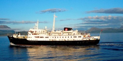 The MS Lofoten, built in 1964, is the oldest vessel in Hurtigruten's fleet and now needs some extensive repairs. PHOTO: Hurtigruten