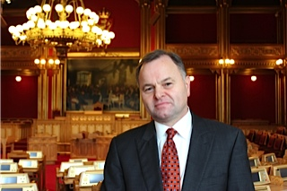 The new president of the Norwegian Parliament, Olemic Thommessen, is also a Freemason, and that's suddenly raised some concern. PHOTO: Høyre