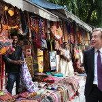 Foreign minister talks shop in India