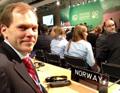 Aslak Brun, Norway's head negotiator at the UN climate talks in Warsaw, was staying put on Thursday while others were walking out. PHOTO: regjeringen.no