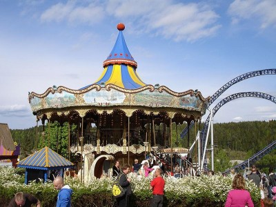 Tusenfryd is a popular amusement park south of Oslo, with admission charges running around NOK 320 per person (USD 52) in the low season.  PHOTO: Wikipedia Commons