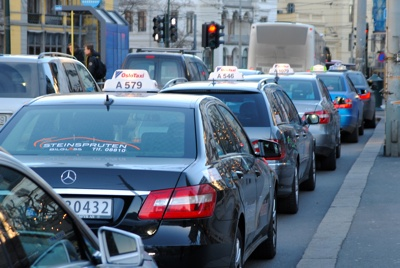 Taxis are plentiful in Norway, but not always popular. PHOTO: newsinenglish.no
