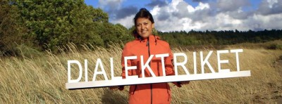 "Presenter, actress and self-confessed dialect lover Jasmin Syed travelled the length and breadth of Norway hearing how people speak, for the popular NRK series ""Dialektriket."" PHOTO: NRK"