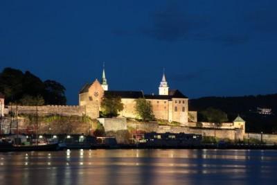 Oslo's historic Akershus Fortress & Castle is now basking in new light. PHOTO: Forsvarsdepartementet/Erik Selmer
