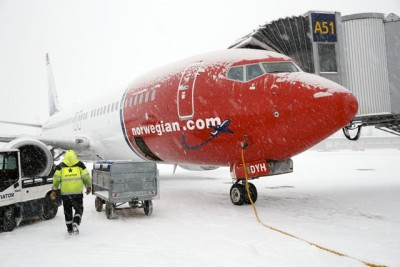 Negotiations froze between management and pilots at Norwegian Air thisi winter, leading to the mediation now aimed at averting a strike this weekend. PHOTO: Oslo Lufthavn AS /Espen Solli