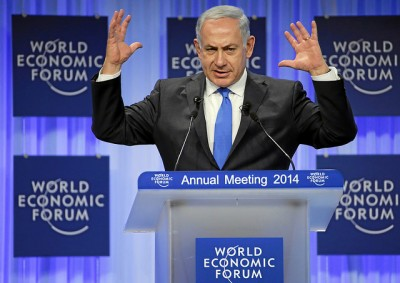 Israeli Foreign Minister Benjamin Netanyahu, shown here speaking at the World Economic Forum in Davos last week, also met with Norwegian Prime Minister Erna Solberg and revealed that his son has a Norwegian girlfriend. That revelation hasn't been entirely welcomed in Israel. PHOTO: World Economic Forum/swiss-image.ch/Remy Steinegger
