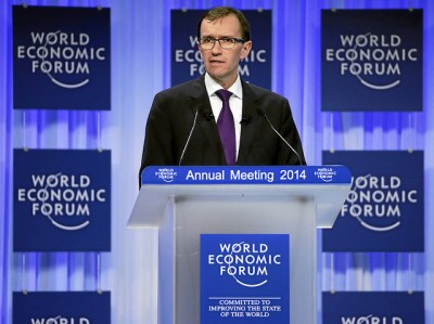 Former Norwegian Foreign Minister Espen Barth Eide has a new job as managing director and member of the managing board at the World Economic Forum in Switzerland. He spoke Thursday at the plenary session 'Israel's Economic and Political Outlook' at the forum's annual meeting at the Congress Centre in Davos. PHOTO: World Economic Forum/Rémy Steinegger