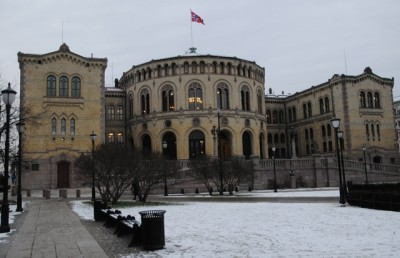 Malermester Harald Askautrud AS has many state renovation contracts, including works at the Norwegian Parliament (Stortinget) building in Oslo. The company said it had no idea authorities had charged or linked five of its subcontractors to black market networks. PHOTO: newsinenglish.no