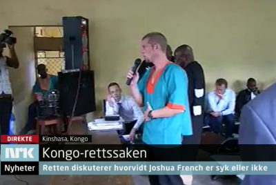 Joshua French spoke little during Friday's hearing, but told the court he was exhausted and burned out. The judges postponed the case for a second time, pending a medical report. PHOTO: newsinenglish.no/NRK screen grab