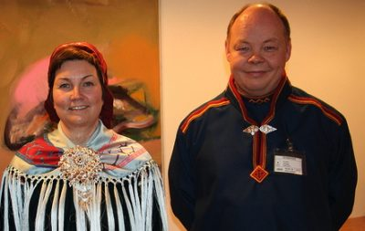 Sameting President Aili Keskitalo (left) and vice president, Henrik Olsen. PHOTO: Kulturdepartementet / Ketil Frøland