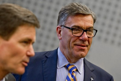 Stein Erik Hagen (right) has long been one of Norway's most high-profile businesmen and investors, along with being among the country's wealthiest. He's photographed here with his business partner Peter Ruzicka, both of whom have led industrial firm Orkla, which Hagen controls through his family company Canica. PHOTO: Orkla ASA