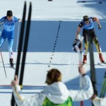 Sweden's Charlotte Kalla made up a 25 second gap to win gold in the women's cross country relay on Saturday. It was Sweden's first gold medal at the Sochi Olympics. The Norwegian women were favourites going into the 20 kilometre battle, and say poor ski waxing was partly to blame for their disappointing fifth place finish. PHOTO: Sochi Media Centre