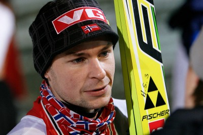 Norwegian ski jumper Anders Jacobsen, shown here at an earlier competition, took a bad fall in Sochi on Thursday. PHOTO: Wikipedia