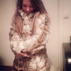 Sandra Borch now says she didn't mean to provoke anyone in her wolfskin coat. PHOTO: Private