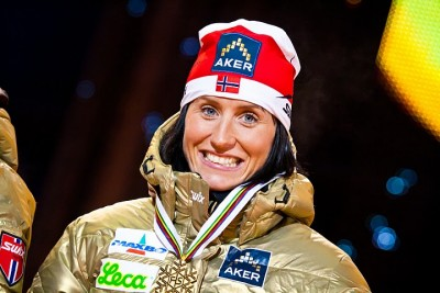 Marit Bjørgen has won lots of medals and had lots of sponsors over the years, like here at the World Championships in Oslo in 2011. Strict Olympic rules, however, are now causing challenges. PHOTO: Ski VM/Petter Næss