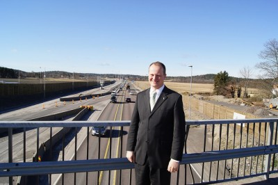Transport Minister Ketil Solvik-Olsen managed to expedite work on the new E18 highway between Tønsberg and Sandefjord, so that it can open in time for the busy summer holiday season this year. PHOTO: Samferdselsdepartementet