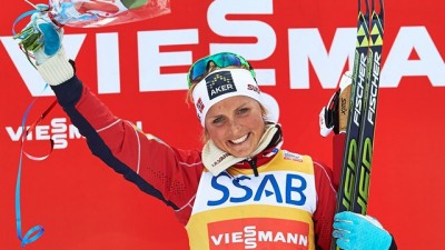 Therese Johaug also won the overall World Cup in the women's division, leaving Norway with a double victory at the end of a triumphant season. PHOTO: Internatinal Ski Federation FIS