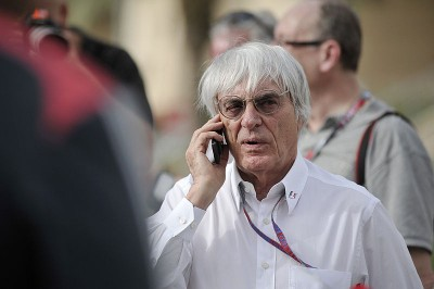 Bernie Ecclestone at the Bahrain Grand Prix in 2012, the same year Norway's Oil Fund invested NOK 1.8 billion in his Formula One empire. The fund's shares were supposed to be stocklisted, but haven't been yet, pending the outcome of corruption charges against Ecclestone. PHOTO: Wikipedia Commons