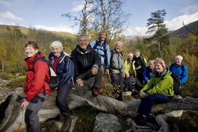 Many Norwegian seniors are relatively affluent, living longer and active, like this group on a mountain hike with Norway's national trekking association DNT. PHOTO: Den Norske Turisforening/Marius Nergård Pettersen