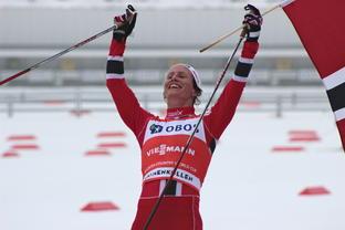 Marit Bjørgen scored another victory at Holmenkollen in Oslo on Sunday. PHOTO: Holmenkollen-World Cup/FIS