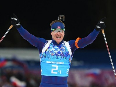 Emil Hegle Svendsen won gold at the Winter Olympics in Sochi but also suffered some major disappointments. Now he and two biathlon teammates have been reprimanded for getting drunk and vandalizing cars during a World Cup event after the Olympics in Slovenia. PHOTO: Sochi2014