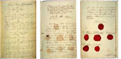 The Norwegian Constitution, called Grunnloven, was drawn up in 1814. This year's 17th of May National Day celebrations will mark its 200th anniversary. After much debate, politicians have finally agreed on the best way to modernize the archaic text of the bokmål version, and will also introduce a version in Norway's other official language, nynorsk. PHOTO: Stortinget