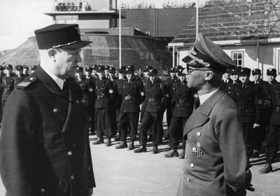 "Vidkun Quisling (left) and Nazi Germany's ""Reichskommissar"" in Norway, Josef Terboven, inspecting a division of the Norwegian paramilitary group known as ""hirden"" during the war. Quisling was charged with high treason after the war and executed. Terboven committed suicide on May 8, 1945 at Skaugum, the home of the exiled crown prince that Terboven had taken over as his residence. May 8th is now Norway's Liberation- and Veterans' Day. PHOTO: Riksarkivet/National Archives of Norway"