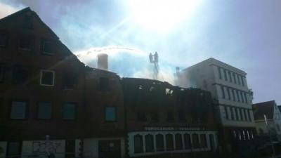 Crews had the blaze under partial control by half past five. PHOTO: twitter.com/110SorRogaland