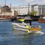 New police boat in action