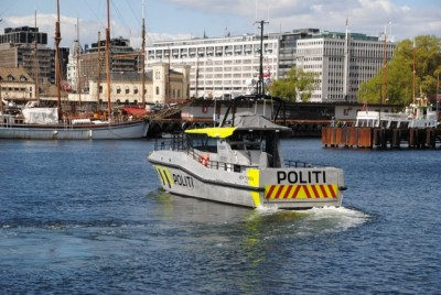 The new police boat 'Vekteren' will be on patrol on the Oslo Fjord all summer. PHOTO: newsinenglish.no