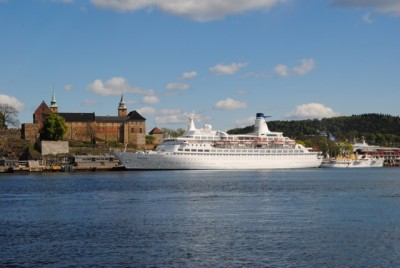 The number of cruiseships calling on Oslo this year is down by nearly 20 percent from last year. PHOTO: newsinenglish.no