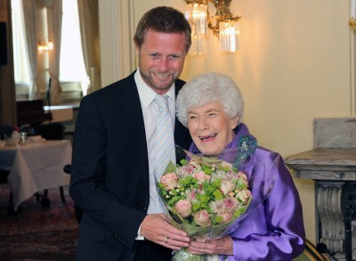 Ingrid Espelid Hovig, Norway's much-loved television chef, was honoured with a state luncheon on her 90th birthday on Tuesday, hosted by Health Minister Bent Høie. PHOTO: Helse- og omsorgsdepartementet