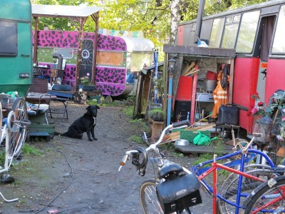 About 20 squatters were evicted from a property in Gamlebyen on Wednesday morning. Members of the Brakkebygrenda communal living project accused the Oslo municipality of trying to stamp out diversity, and vowed to rebuild elsewhere. PHOTO: facebook.com/brakkebygrenda