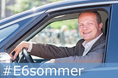 Transport Minister Ketil Solvik-Olsen is using the first few weeks of the parliament's summer recess to drive the entire length of the E6 highway, from the Swedish border in the south to the Russian border in the north, to experience road standards and traffic issues firsthand. PHOTO: Samferdselsdepartementet