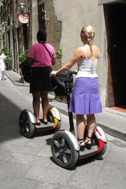 Tourists taking a Segway tour in Florence, Italy. PHOTO: Wikipedia