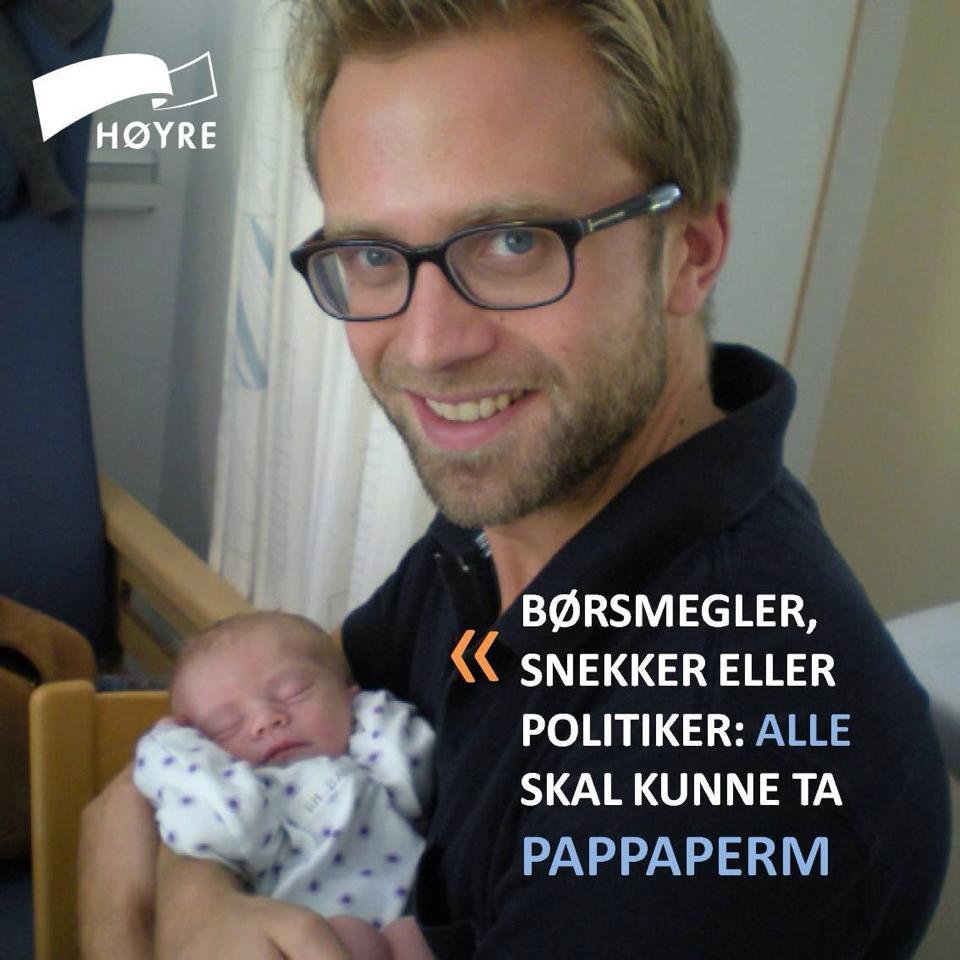 Conservative politician Nikolai Astrup was among those angered by revelations some independent finance firms dissuaded brokers from taking paternity leave by threatening their career progression and offering cash bonuses. PHO