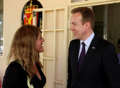 Børge Brende also made a trip to South Sudan shortly after becoming Norway's foreign minister, and met with Johnson in Juba. Now she's leaving after three years and with the country still in turmoil. PHOTO: Utenriksdepartementet