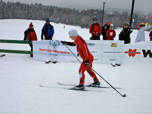 An athlete competes at the Holmenkollen Special Olympics last year. PHOTO: facebook.com/SpecialOlympicsNorge