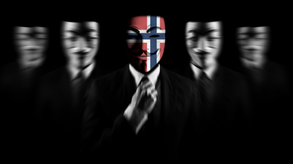 Online activist group Anonymous Norway claimed responsibility for Tuesday's attacks against more than eight of the country's major financial institutions. The group claimed it wanted to alert society to the fact little was being done to protect them from the growing number of cyber security attacks. Authorities could not confirm the claims. PHOTO: Facebook.com/AnonNorway