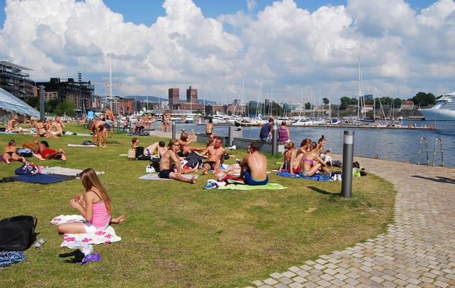 Summer, Tjuvholmen, Oslo Fjord