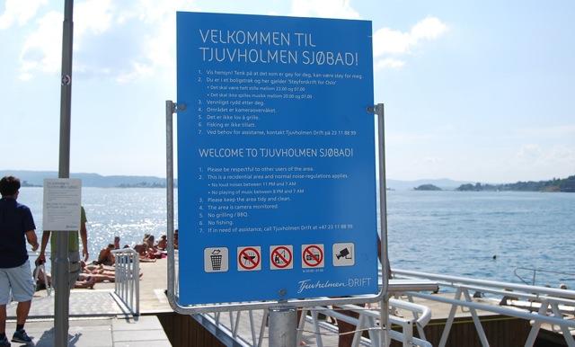 summer, Tjuvholmen, fjords, swimming