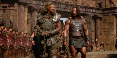 """Tobia Santelmann (left) has a """"bad guy"""" role in Hercules, with the title role played by Dwayne Johnson. PHOTO: Filmweb/Kerry Brown"""