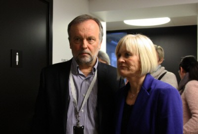 Teachers' union boss Ragnhild Lied (right) and employers' group KS' lead negotiator Per Kristian Sundnes met with a state mediator earlier this week, but there was no settlement. PHOTO: Utdanningsforbundet/Eli Kristine Kormo
