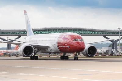One of Norwegian Air's new Boeing 787 Dreamliners, at London's Gatwick Airport. PHOTO: Norwegian