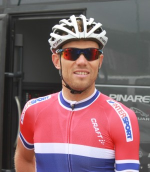 """Thor Hushovd, retiring after 15 years of professional cycling, is now writing a book about he's seen and heard in his sport. He promises it will be """"an honest book."""" PHOTO: Norges Cykleforbund"""