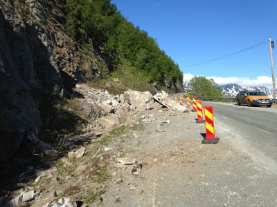 One of the poor sections of the E6 highway, over the mountains of Kvænangsfjellet in Northern Norway. PHOTO: Samferdselsdepartementt