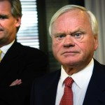 """Tor Olav Trøim (left) has been the right-hand man for shipping magnate John Fredriksen since 1995. Now he's secured a major shareholding for himself and says they'll be working """"differently."""" PHOTO: NTB Scanpix"""