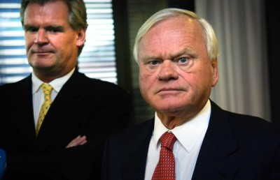"Tor Olav Trøim (left) has been the right-hand man for shipping magnate John Fredriksen since 1995. Now he's secured a major shareholding for himself and says they'll be working ""differently."" PHOTO: NTB Scanpix"